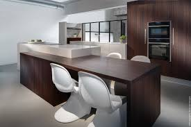kitchen luxury white kitchen with dark wood cabinet and breakfast