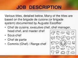 what is a chef de cuisine description chef