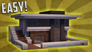 minecraft how to build a small modern house tutorial 9 youtube