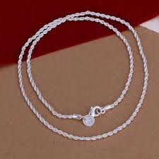 silver necklace sale images On sale diamond cut rope chain silver necklace 18 20 22 or 24 jpg