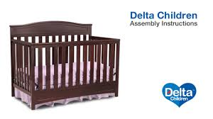 Delta Crib Bed Rails Delta Children Emery 4 In 1 Crib Assembly