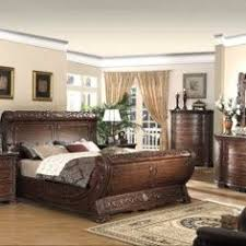 Master Bedroom Sets King by 4 Piece Victorian Renaissance Cherry King Sleigh Bed Bedroom Set