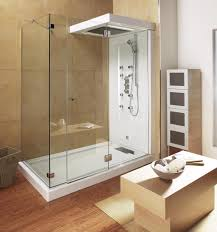 bathroom white modern small bathroom featuring tan tiles accent bathroom white modern small bathroom featuring tan tiles accent wall background and elegant white walk in shower with glass in addition freestanding white