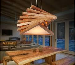 handmade wood novelty modern handmade wood pendant lights for bar restaurant
