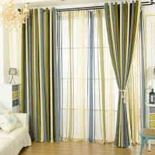 Green Striped Curtains Chenille Blackout Blue Olive Green Striped Curtains