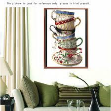 home decoration handmade handmade diy diamond painting embroidery set coffee cups resin