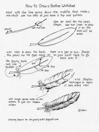 how to draw worksheets for the young artist how to draw a feather