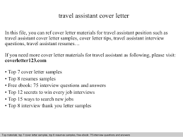 cover letter assistant travel assistant cover letter