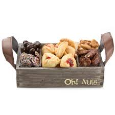 oh nuts purim baskets purim small signature wooden gift tray shalach manot trays