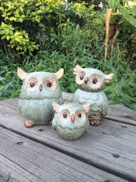 f f zakka japanese ceramic owl ornaments handmade crafts home