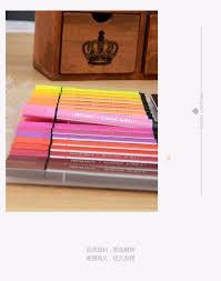 48 colors set washable large color pens with triangle barrel kids