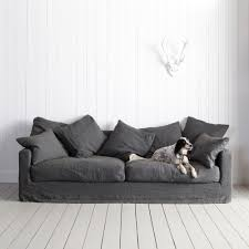 Living Room Ideas Grey Sofa by Living Room Linen Sofa On Pinterest With Grey Couches And Brown