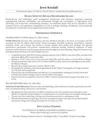 resume example retail retail management resume example retail
