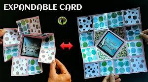 expandable scrapbook collapsible expandable card scrapbook diy tutorial 899