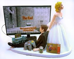gamer wedding cake topper and groom gamer wedding cake topper 2535730