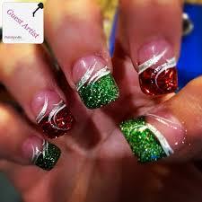 sparkly christmas nails polishpedia nail art nail guide