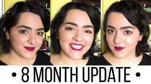 nine months later its a bob from pixie cut to bob haircut growing out my pixie cut month 8 laura neuzeth youtube