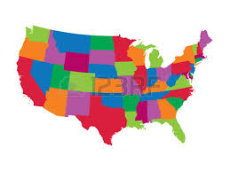 united states map vector colorful map of the united states royalty free cliparts vectors