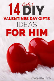 valentines gift for guys 14 diy valentines day gift ideas for him