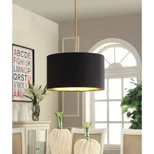 drum light chandelier this lovely pendant features a black linen shade that is