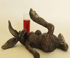 bronze hare ornament hare of the