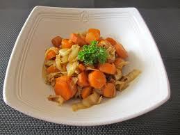 cuisiner des carottes à la poele poêlée de chou chinois aux carottes diet délices recettes