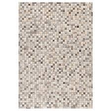 tapis de cuisine alinea tapis en cuir beige plusieurs tailles disponibles layan