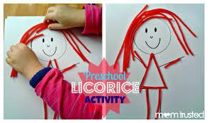 preschool licorice activity preschool activities and