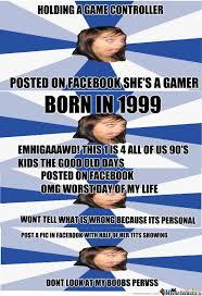 Facebook Girl Meme - annoying facebook girl by trollface15 meme center