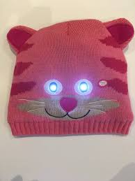 beanie with led lights bright eyes animal hats with led lights cassie cat by on the movies