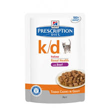 hills prescription diet feline k d beef 48x85g bay vets