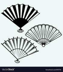 japanese folding fan japanese folding fan royalty free vector image
