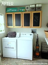Cabinets For Laundry Room Laundry Room Makeover A Renter Friendly Cabinet Makeover Hometalk