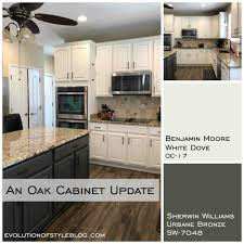 white dove on kitchen cabinets white dove and urbane bronze painted cabinets evolution of