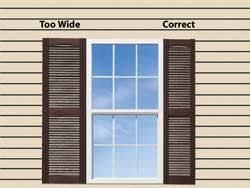 exterior window shutters shutter height in most cases the height