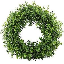 boxwood wreaths artificial boxwood wreath 25 home kitchen