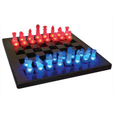 buy chess set lighted led chess set at brookstone buy now