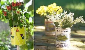 Decorate A Vase 20 Tin Can Craft Ideas Flower Vases And Plant Pots