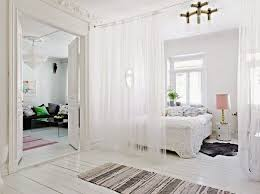 White Room Divider - hor to use room divider curtains as temporary room dividers