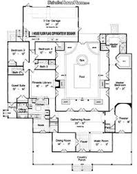 home plans with indoor pool house plans with enclosed courtyard home plan 108 1370 floor