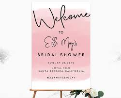 bridal shower signs bridal shower welcome signs