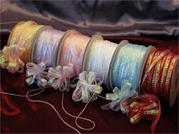 pull ribbon fancy iridescent pull ribbon