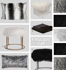 White Fur Ottoman by Weekend Window Fabulous Fur
