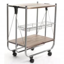 chariot de cuisine desserte chariot de cuisine pliable sur roulettes la maison idéale