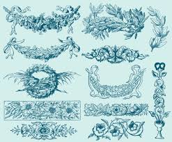 vintage leaf ornaments vector graphics freevector