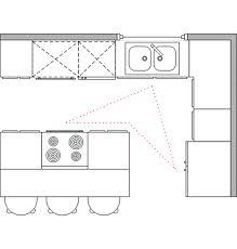 l shaped kitchen with island layout best l shaped kitchen layout