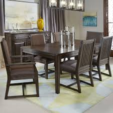 seven piece formal dining set with upholstered chairs by kincaid