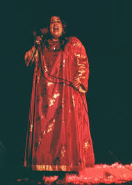 cass elliot at the hollywood bowl along with the rest of the