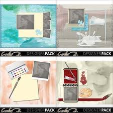 8x11 photo album digital scrapbooking kits watercolor 8x11 album carolnb boys