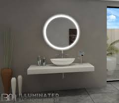backlit bathroom lighted mirror round 32x32 in the light house